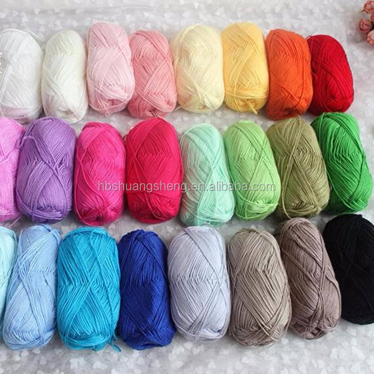 Solid color healthy dyed bamboo cotton blended yarn natural fiber baby yarn