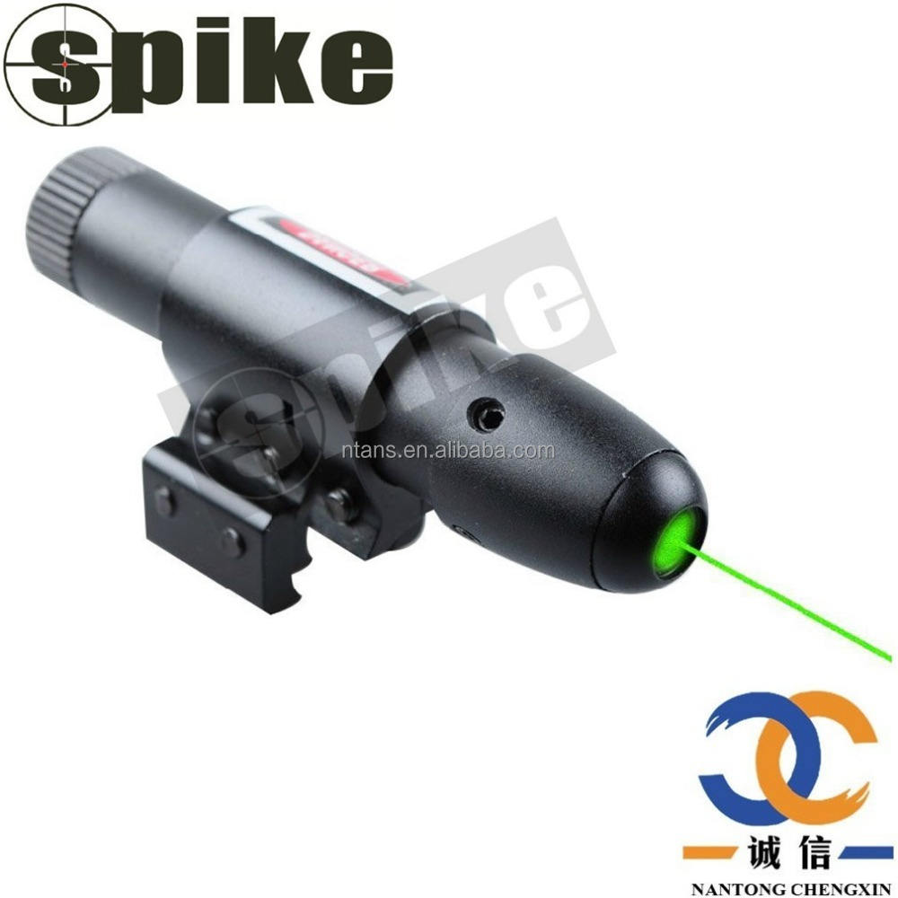 Spike Military Green Laser Pointer Presenter Pen Aiming Sight Infrared Laser Sight Dot Scope with Ajustable Bracket 11MM, 20MM