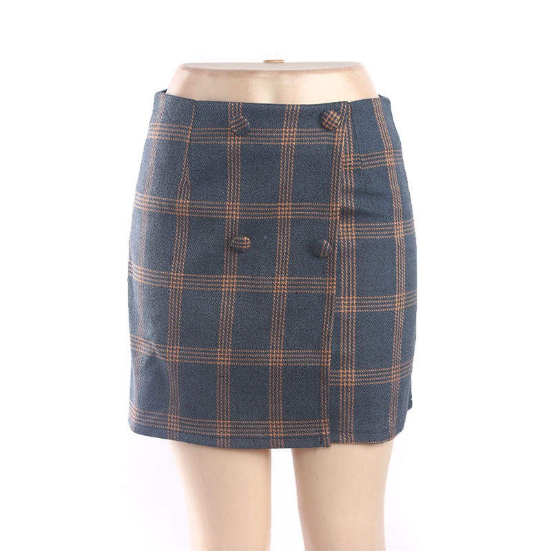Blue Tartan Short Skirt Pleated High Waist Women/'s Girls Micro Mini  Check 084