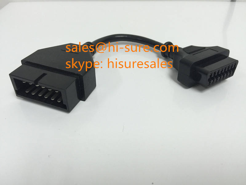 OBDII female connector to 12P connector for GM/DAEWOO diagnostic tool