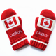 Sport Team Red and White Mittens Gloves Acrylic Winter Maple Leafs Knit Mittens Adult Canada