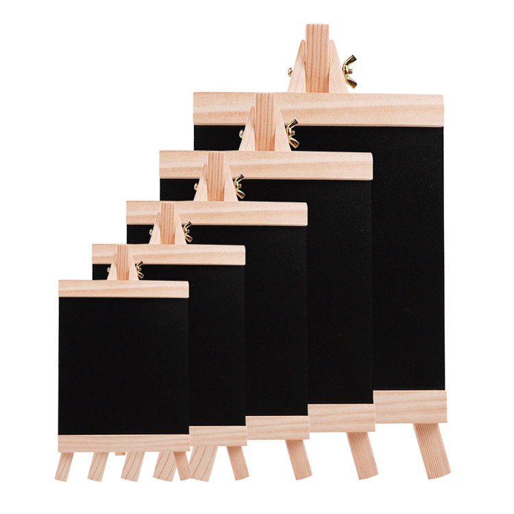 Folded Blackboard Blackboard Different Size Message Shopping List Memo Board Writing Wooden Chalkboard Blackboard With Easel