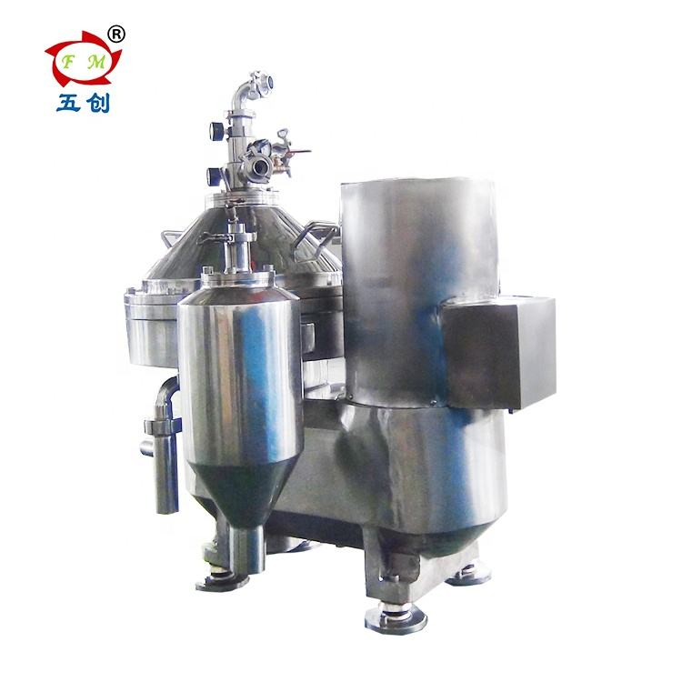 Self cleaning disc centrifugal milk cream separator dairy processing machine