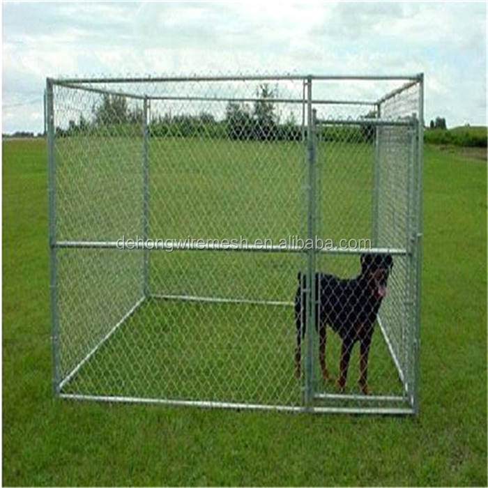 2016 Wholesale Hot Dip Galvanized Large Dog Kennel/Cages