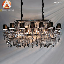 16 Light Rectangle Maria Theresa Crystal Pendant Lamp