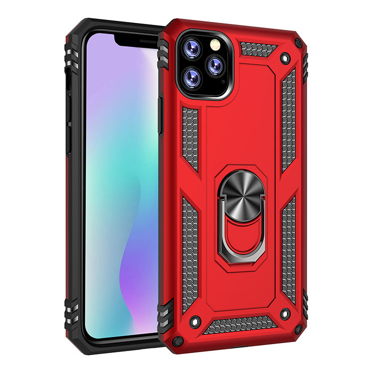 Durable PC+TPU Shockproof Ring Metal Kickstand for iPhone 11 Pro Max Case