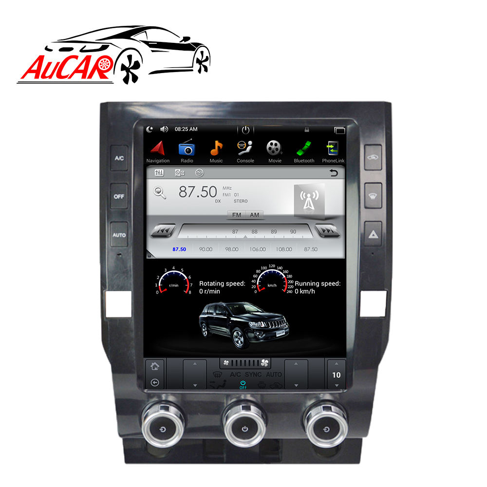 "AuCAR 12.1 ""Tesla Android Autoradio voor Toyota Tundra 2014-2019 Touch Screen Stereo Video Audio GPS Multimedia BT 4G WiFi"