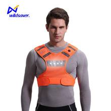 Hi vis reflective vest sports safety LED wear