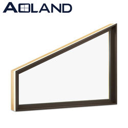 Commercial double glazed aluminium trapezoid fixed windows