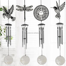 W 5274 New Unique Wall circle Crystal Striker Butterfly Wind Chime