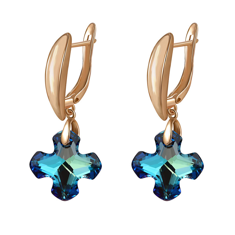 20179 xuping boucles d'oreilles en or photos cristaux de <span class=keywords><strong>Swarovski</strong></span> <span class=keywords><strong>elements</strong></span>