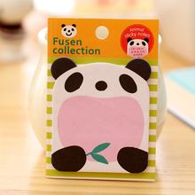Korea Stationery Animal Shape Small Notes Stickers Note Paper Stationery Sticky Note