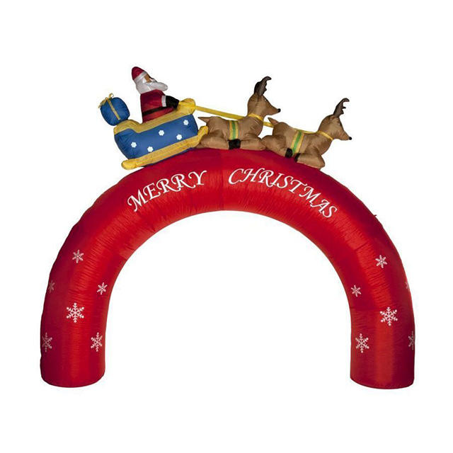 Outdoor christmas decoration santa claus inflatable arches Special for Christmas Festival.