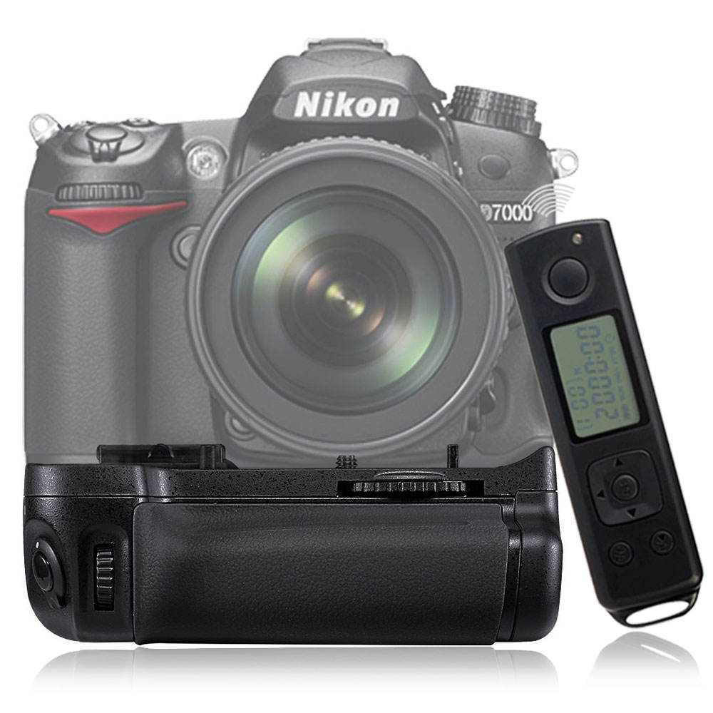Meike for Nikon D7000 Wireless Remote Control Vertical Battery Grip as MB-D15