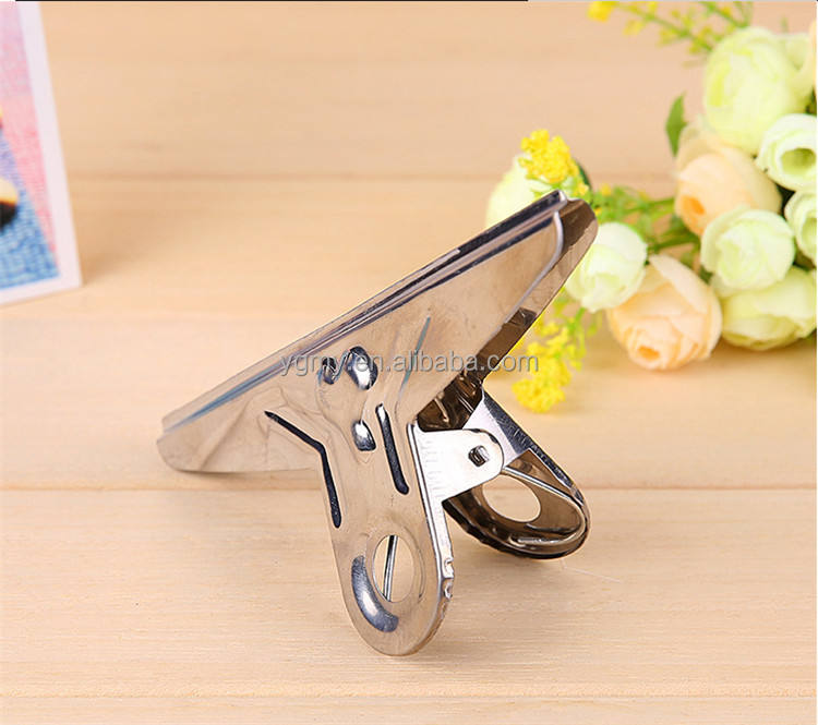 Hot Sell Maximum Big Grip Clips Bulldog Clips Silver Metal Paper Clip Size 150*70MM