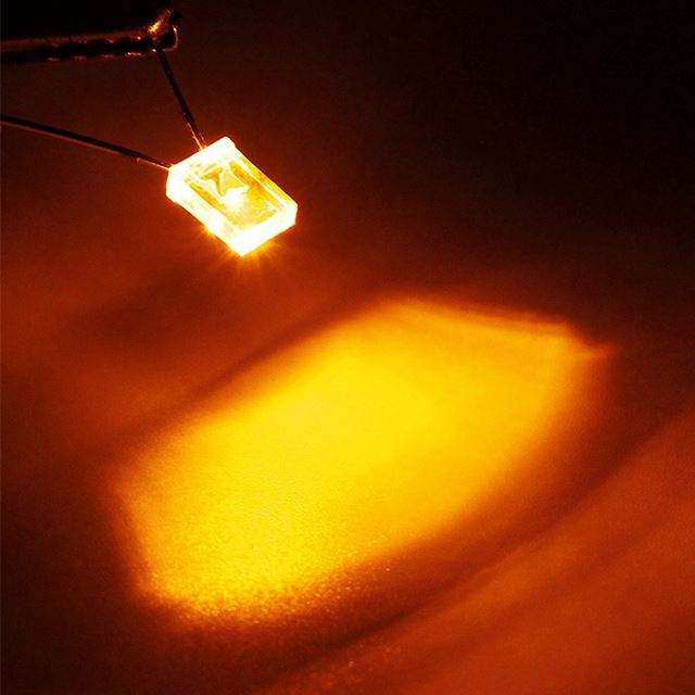 100pcs 2x5x7mm White Led Rectangle Rectangular Water Clear Light LED Lamp Bulb