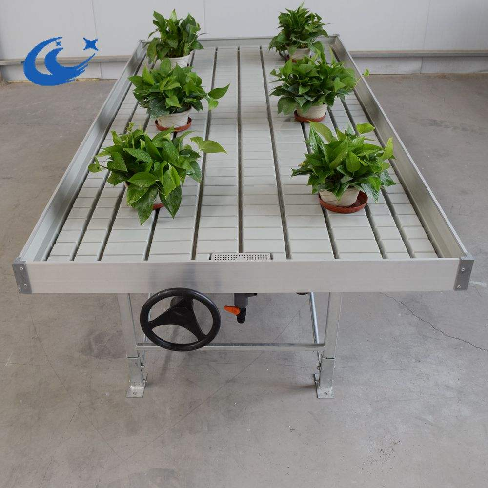 greenhouse kits rolling bench Growing Tables for Commercial plants