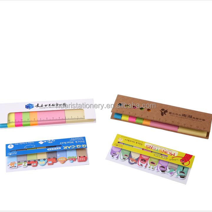 Removable self stick notes book page marker