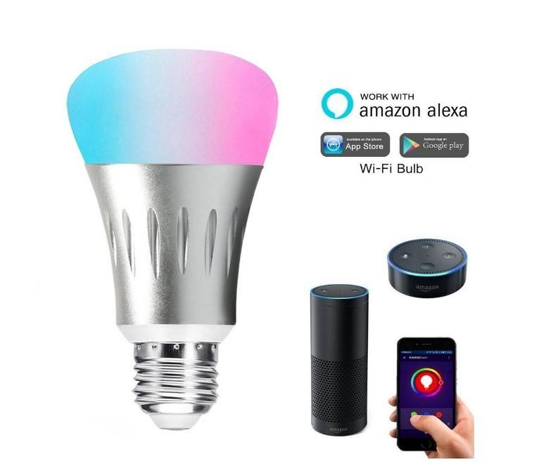 2019 hot nieuwe producten smart home verlichting draadloze WIFI RGB led verlichting led wifi E27 slimme lamp gemaakt in china