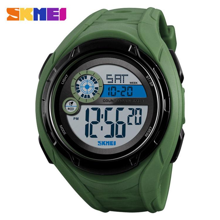 Skmei 1470 Men'S Watch Sports 50 Meter Waterproof Alarm Clock Time Watch Display Digital Watch