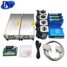 Hot sell 2 phase 12N.M 4 axis stepper motor nema 34 kit for cnc router