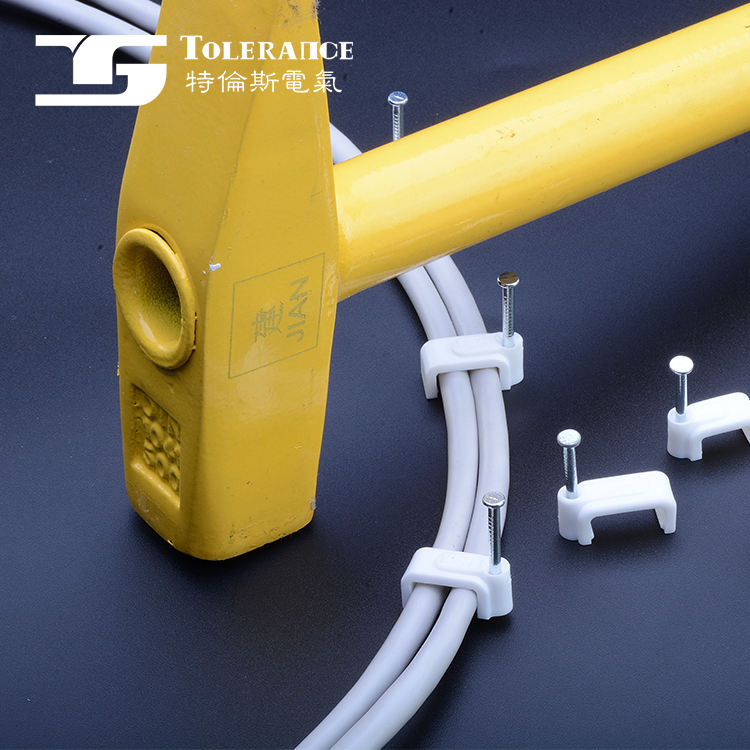 International Professional Manufacturer Pvc Flat Nail Cable Clip
