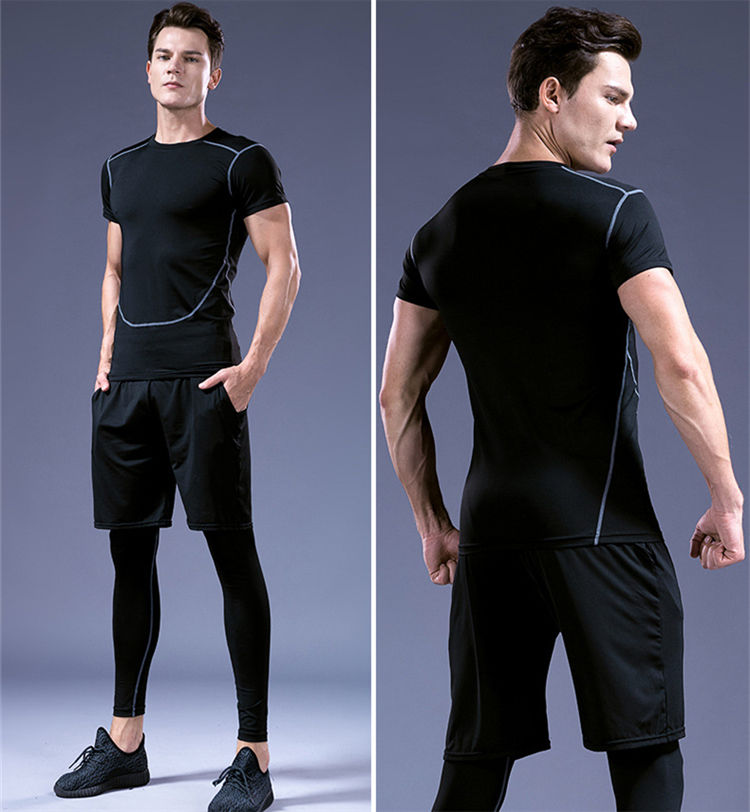 Factory Direct 3 - piece Set Sport Wear Men Fitness Male Man Sport Wear Suit