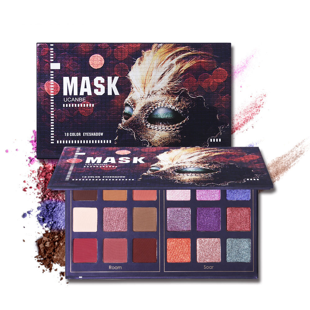 Private Label Makeup Eye shadow Matte Shimmer Glitter 18 Colors Eyeshadow Palette