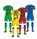China Factory Wholesale Thailand quality sublimation soccer jersey kids set