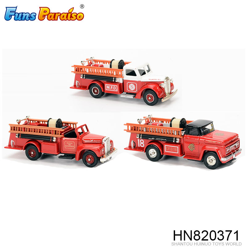 Classical die cast toy sliding fire fighting truck HN820371