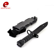 Element tactical combat RubberTraining hobby Knife M9 Rubber plastic bayonet knife