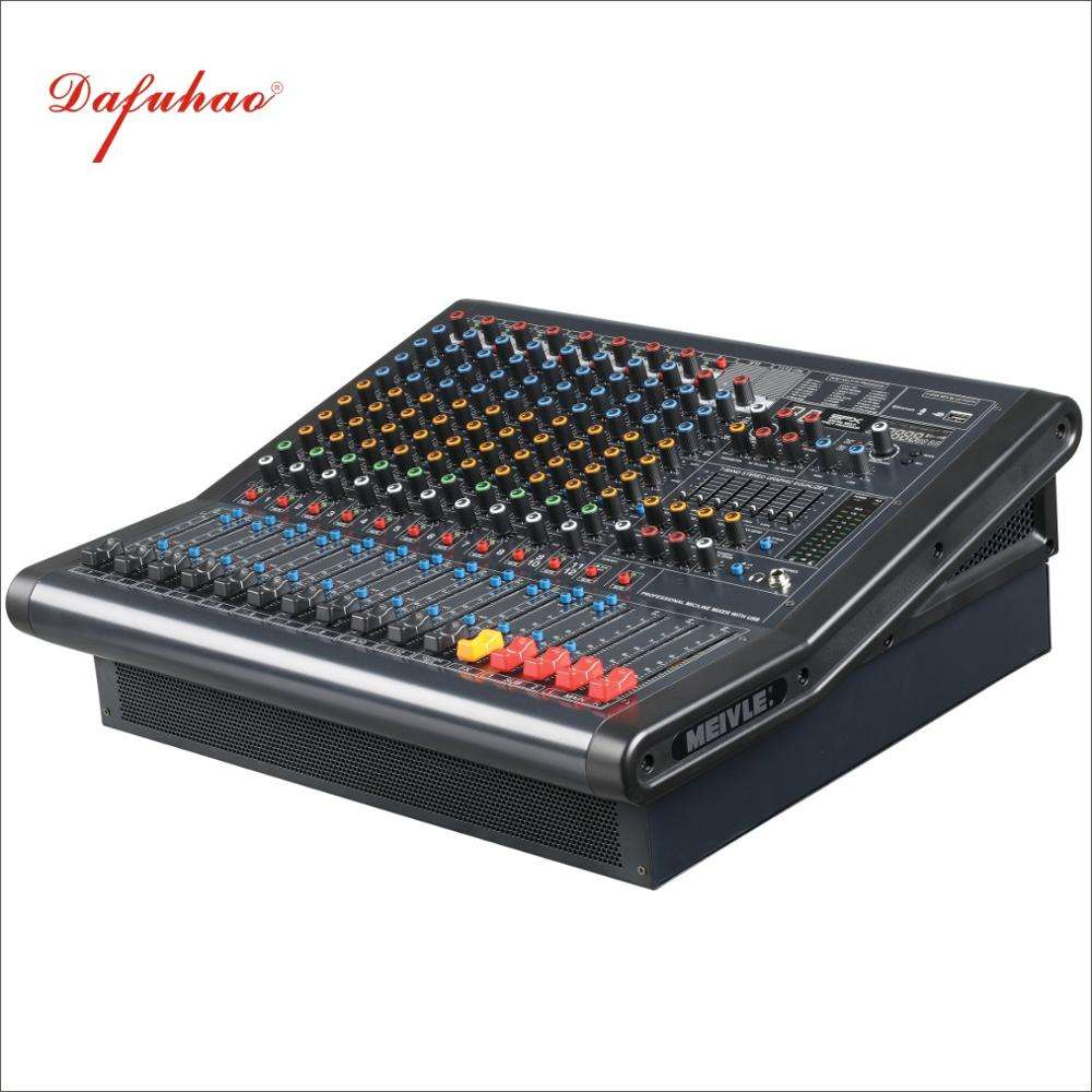 12 Channel 48 V Phantom Power Supply 3 Bands Mixing Console Professional Audio Sound System DJ Mixer