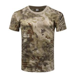 Men's Camo Combat Tactical Shirt Short Sleeve T-Shirt Camouflage Outdoor Hunting Shirts Military Army T Shirt