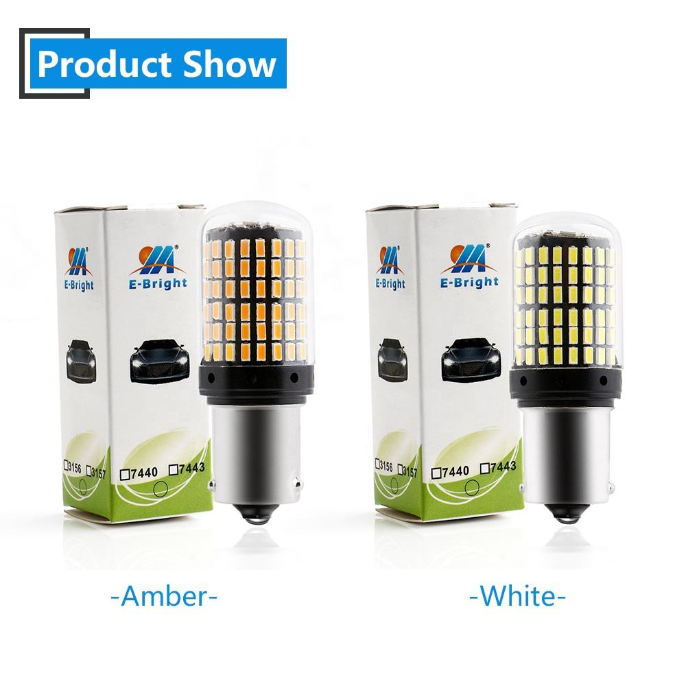Wit Amber Canbus Auto Led Richtingaanwijzers Geen Fout Geen Flash 12 V S25 1156 BAU15S 1157 3156 7440 7443 Lampen Super Heldere