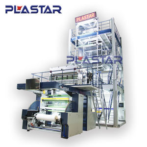 3 Lapisan ABC Mesin Extruder Plastik Film Blowing Machine Rumah Kaca