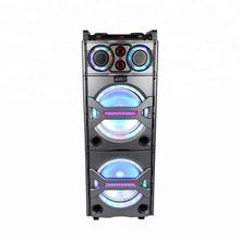 Wholesale Portable Trolley Speaker 10inch x 2 Active Wireless Portable Audio Player with light Karaoke Player