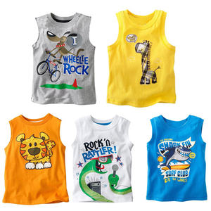 China Wholesale Organic Cotton Newborn Baby's Cartoon Pattern Vest