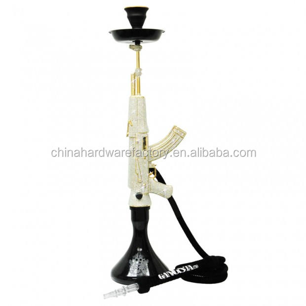 Original design patented Diamond army Gun hookah shisha with diamonds