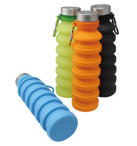 Travel Portable Squeeze Flexible Silicone Collapsible Water Bottle