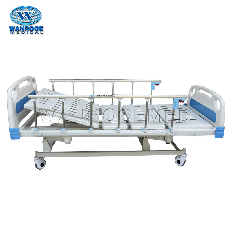 BAM302 Medical Furniture Manual 3 Cranks Adjustable Metal Hospital Bed For Patients