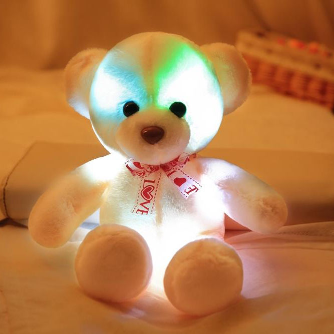 2019 Wholesales lighting plush led teddy bear from China