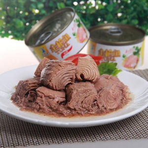 Delicious bonito canned tuna