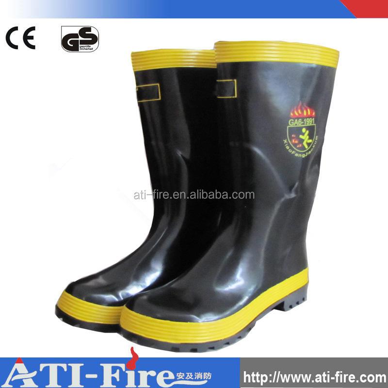 VIGILE DEL FUOCO 4000 Fuoco Sicurezza industriale in gomma Stivali Di Gomma Wellies Usato Grado A
