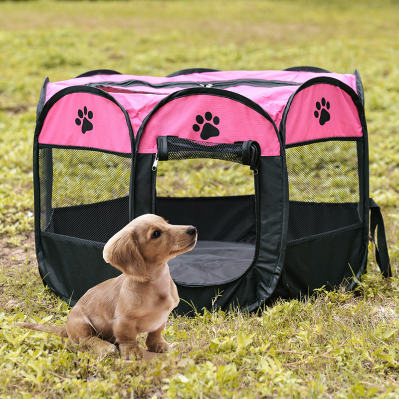 Foldable 8 Panels Pet Playpen Dog Camping Tent For Indoor&outdoor