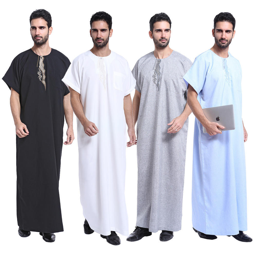 new style islamic clothing muslim men thobe abaya middle east qatar style muslim clothing for men