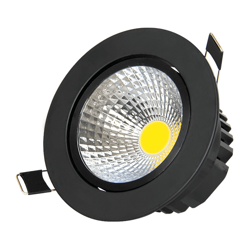 Led Spotlight For Home Hotel Lamp Black COB Recessed Ceiling Light Rotating Led Flood Spot Light 3w 5w 7w 9w 12w 15w