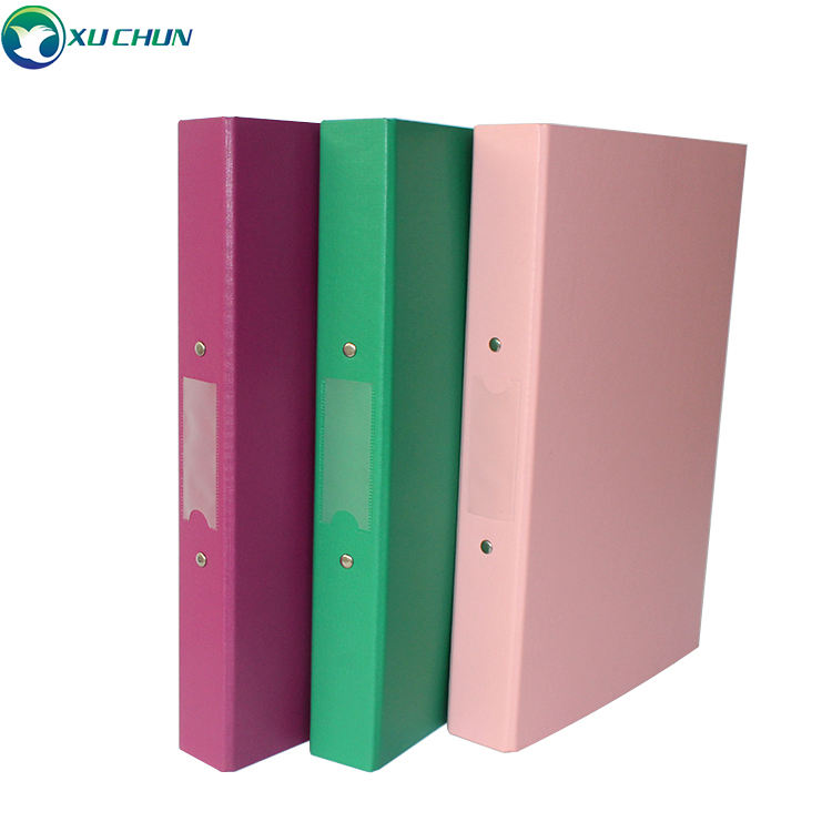 Durable PP 2 hole metal clip ring Binder letter /A4 Size File Binder for Business and Office Students supply