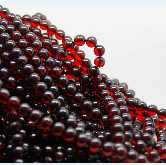 2020 Wholesale gemstone jewelry 8mm round red garnet loose stone for necklace making