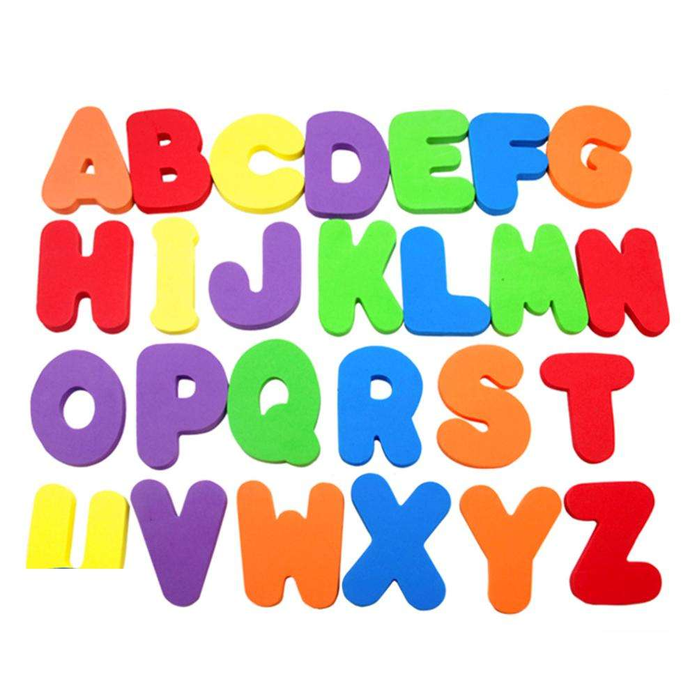 EVA 26 36 foam lowercase uppercase numbers letters for kids bath time