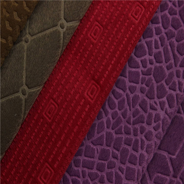 New fashion embossed design Velvet fabric bonding TC back for upholstery sofa fabric